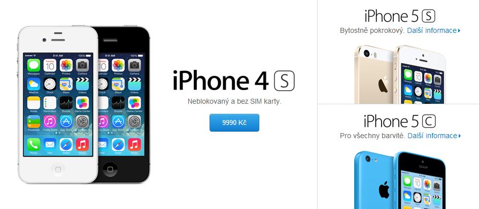 iPhone 5 mizí z prodeje, ale iPhone 4S si můžete koupit