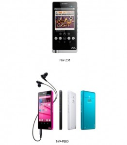 Sony NW-ZX1 a NW-F880