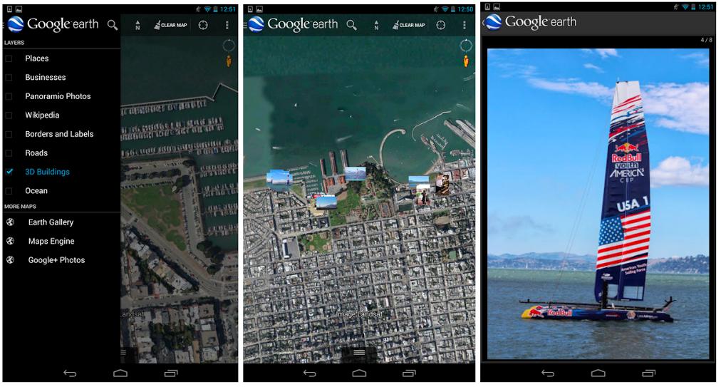 Google Earth pro Android vám nyní zobrazí geotagované fotografie