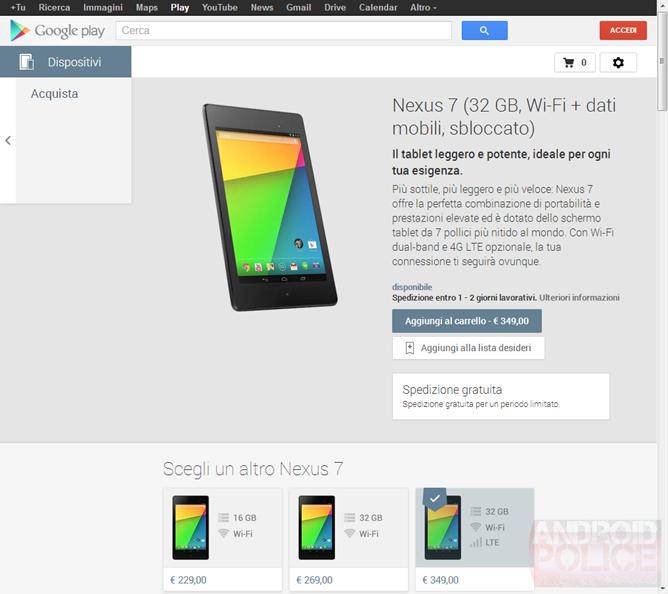 """""""Těsně vedle"""" – Nexus 7 je dostupný v další zemi skrze Google Play"""