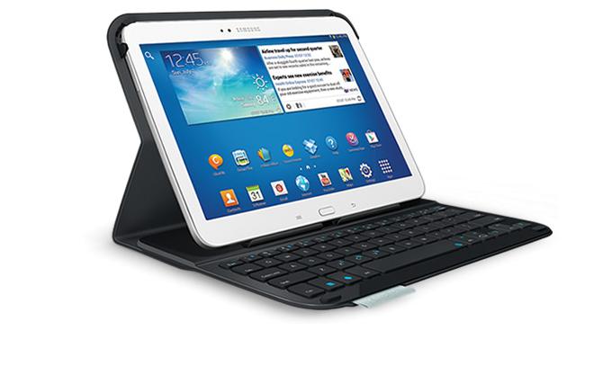 Logitech Folio  ochranné pouzdro s vestavěnou klávesnicí pro Samsung ... 15d480620da
