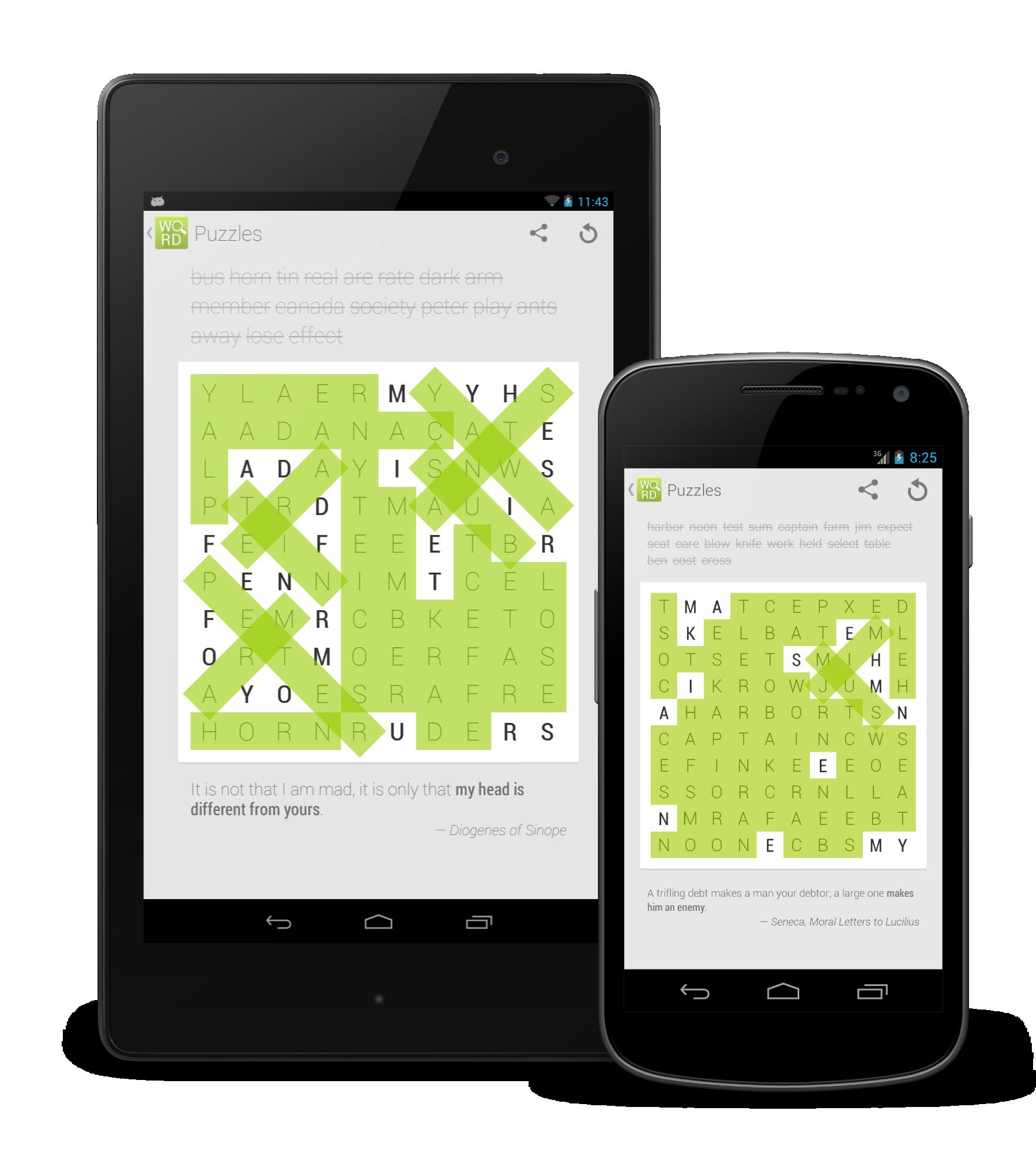 Nové Osmisměrky pro Android jsou skvělou příležitostí, jak zahnat chvíli nudy