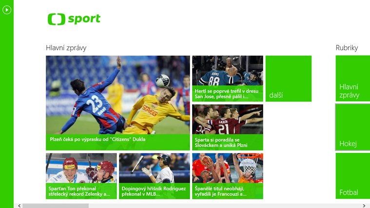 ČT vydala první aplikace pro Windows 8
