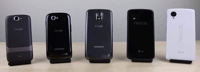 Nexus smartphony – rychlostní srovnání všech generací [video]