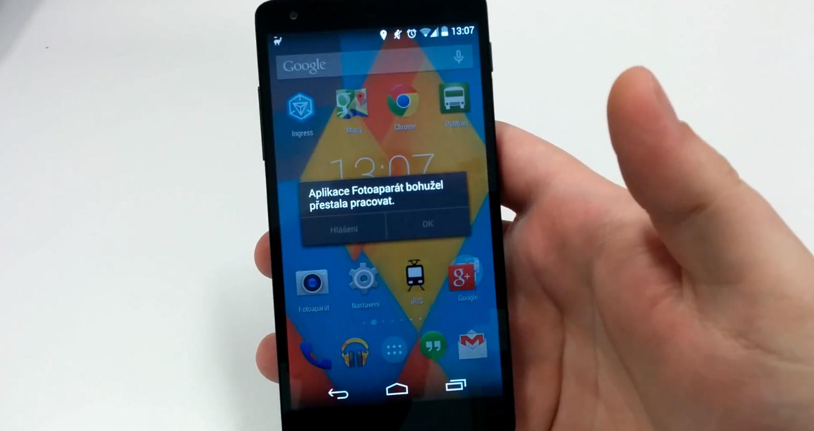 Google Goggles způsobuje chybu v Androidu 4.4 KitKat