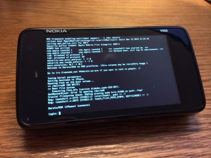 Jádro iOS bylo portováno na Nokii N900