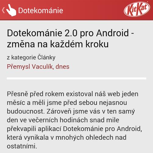 Dotekománie 2.0 pro Android – změna na každém kroku