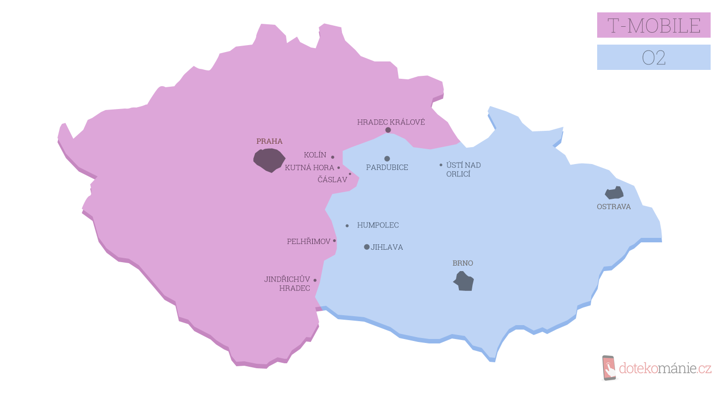 mapa CR-TM a O2