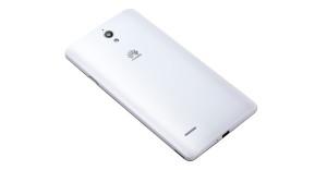 Huawei Ascend G700 - bílá varianta - zadní část