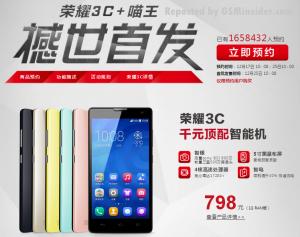 Huawei Honor 3C - objednávky