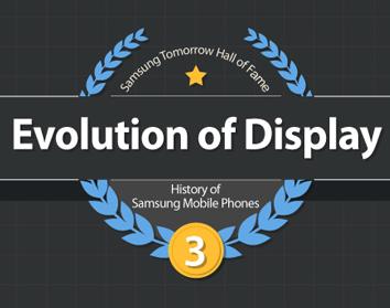 Infografika – evoluce displejů mobilů podle Samsungu