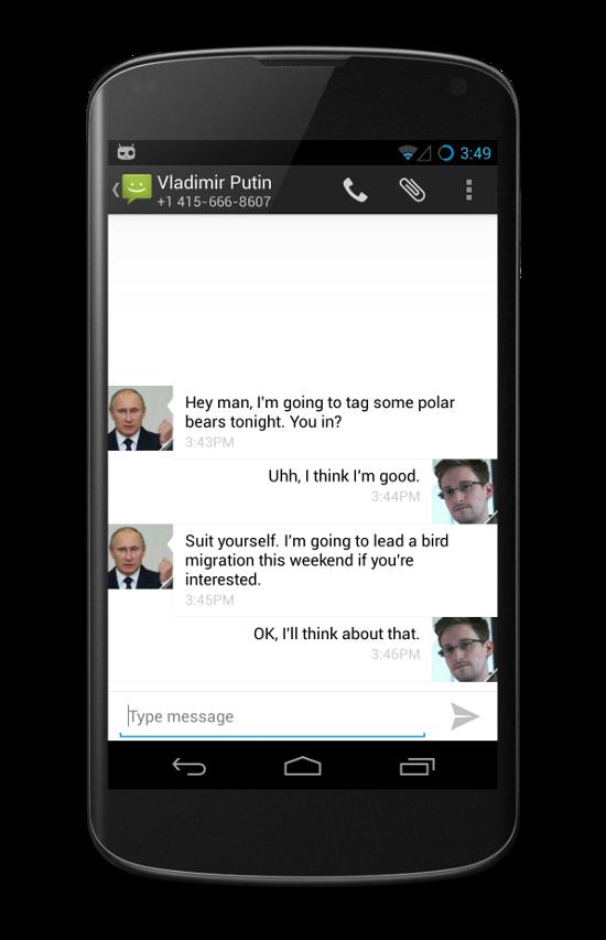 Aplikace CyanogenMod WhisperPush: zabezpečená komunikace