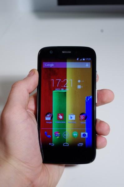 Hlavní obrazovka launcheru Moto G