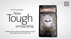 Antibacterial Gorilla Glass