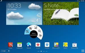 Samsung Galaxy Note 10.1 2014 Edition - Akční menu S Pen