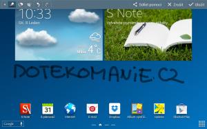 Samsung Galaxy Note 10.1 2014 Edition - Akční poznámka S Pen