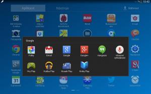 Samsung Galaxy Note 10.1 2014 Edition - Aplikace Googlu