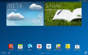 Samsung Galaxy Note 10.1 2014 Edition - Hlavní plocha
