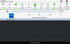 Samsung Galaxy Note 10.1 2014 Edition - Hudba v oznamovací liště