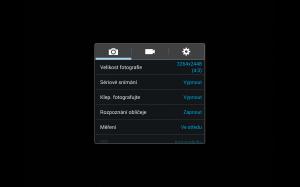Samsung Galaxy Note 10.1 2014 Edition - Nastavení fotoaparátu