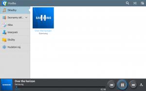 Samsung Galaxy Note 10.1 2014 Edition - Prostředí Hudby