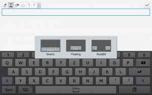 Samsung Galaxy Note 10.1 2014 Edition - Rozložení klávesnice