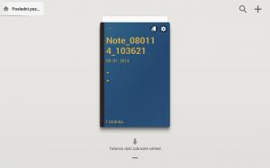 Samsung Galaxy Note 10.1 2014 Edition - Uložená poznámka