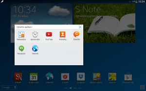 Samsung Galaxy Note 10.1 2014 Edition - Výběr miniaplikací S Pen