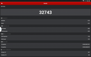 Samsung Galaxy Note 10.1 2014 Edition - Výsledek AnTuTU
