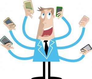 Smartphone uživatel