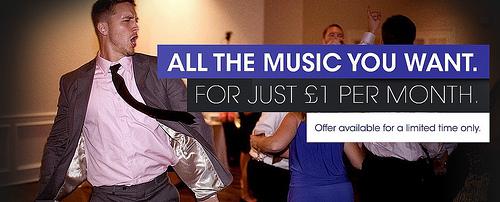 Sony Music: omezeně neomezený poslech za 3 libry na 3 měsíce
