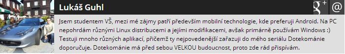 info z profilu