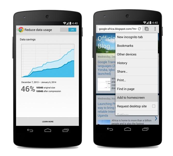 Chrome přináší kompresi dat pro Android a iOS