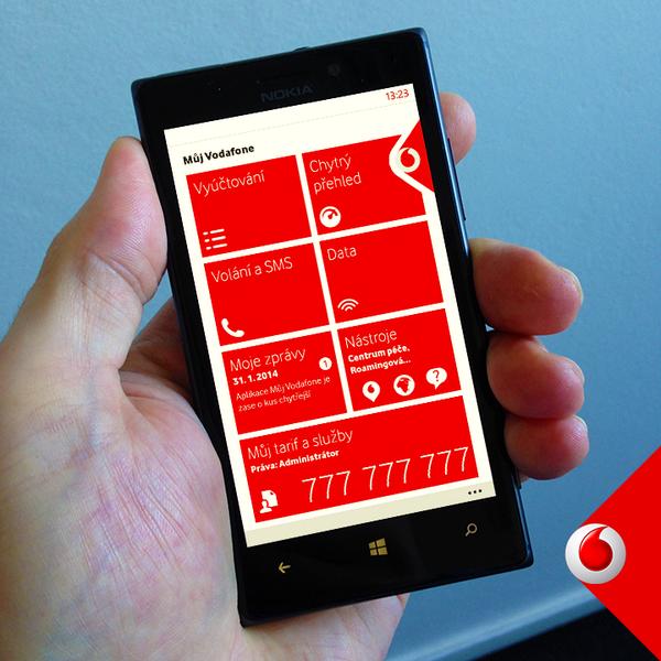 Vodafone má aplikaci pro Windows Phone 8