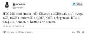 HTC One 2 Mini