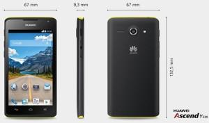 Huawei Ascend Y530 - rozměry