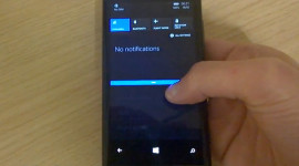 Action Center z Windows Phone 8.1 ukázaný na videu