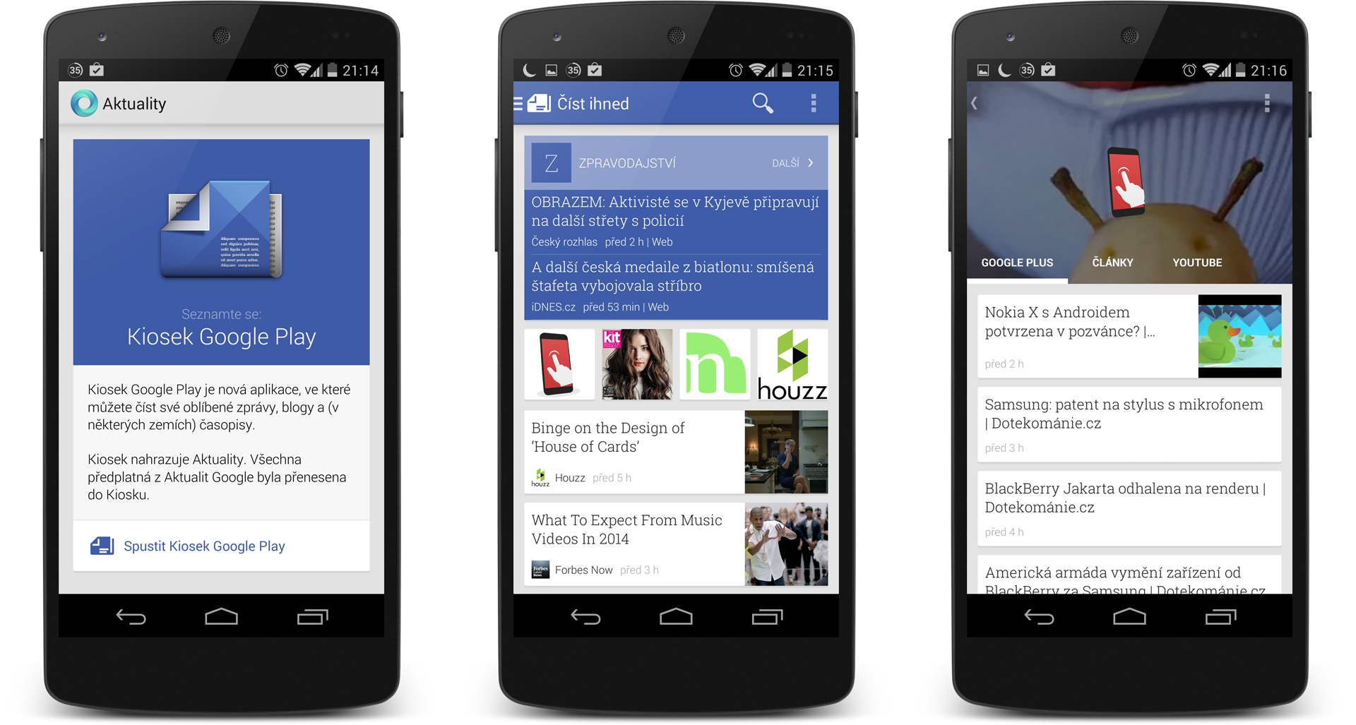 Kiosek Google Play má skryté nastavení pro designéry