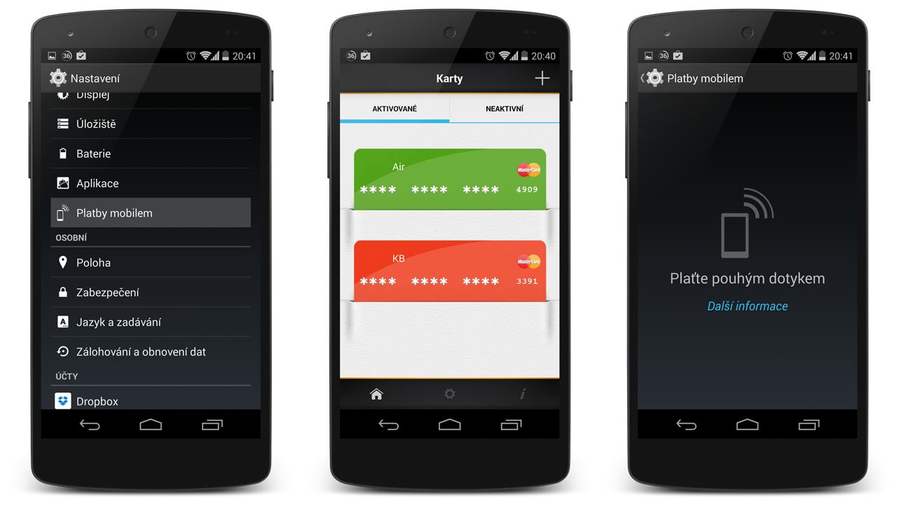 Emulace platebních karet v Androidu – první bude Mastercard [aktualizováno]