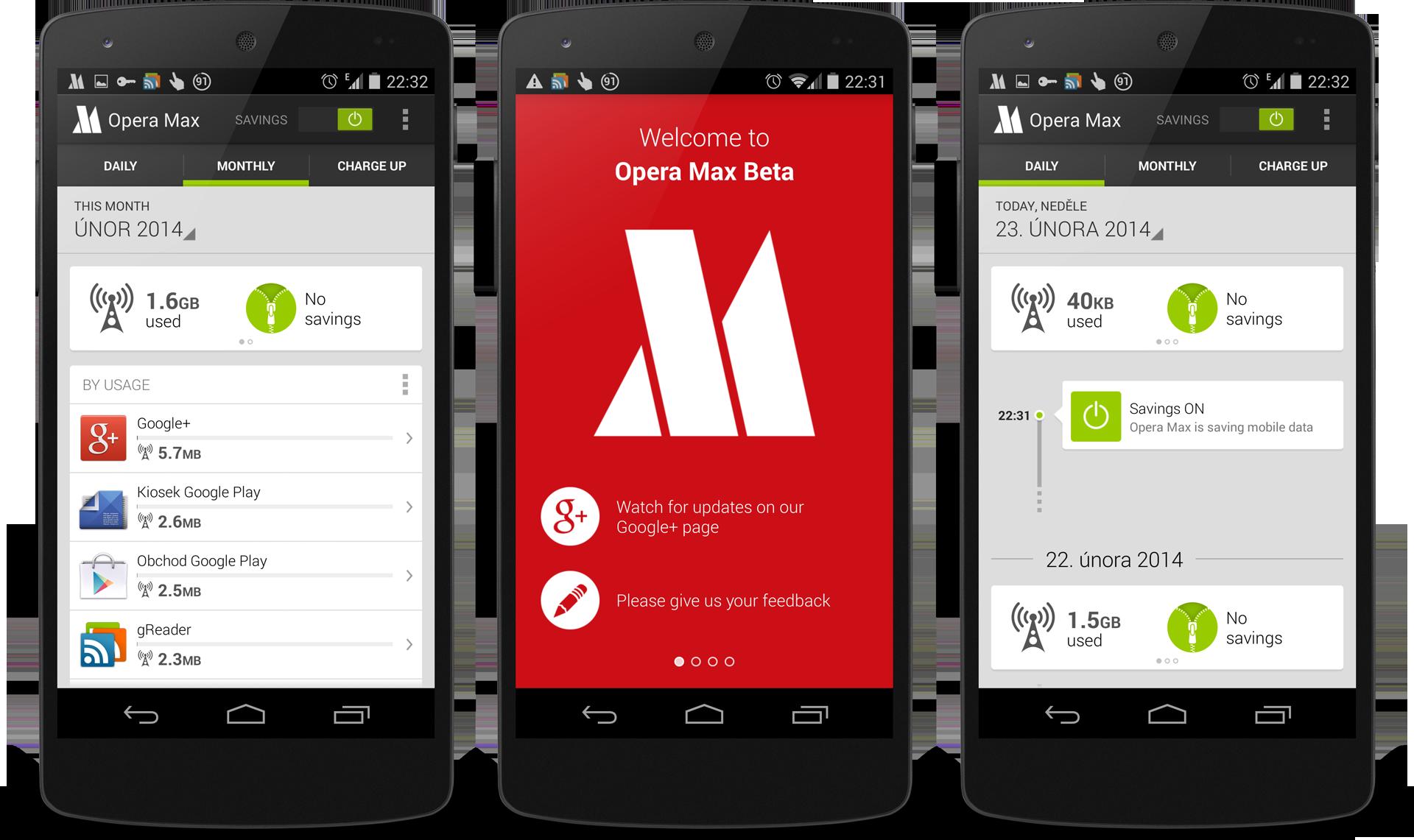 Opera Max je dostupná pro všechny [aktualizováno]