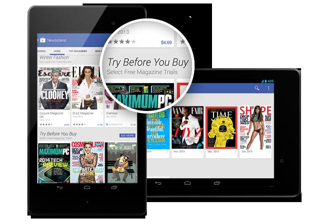 Kiosek Google Play získává aktualizaci
