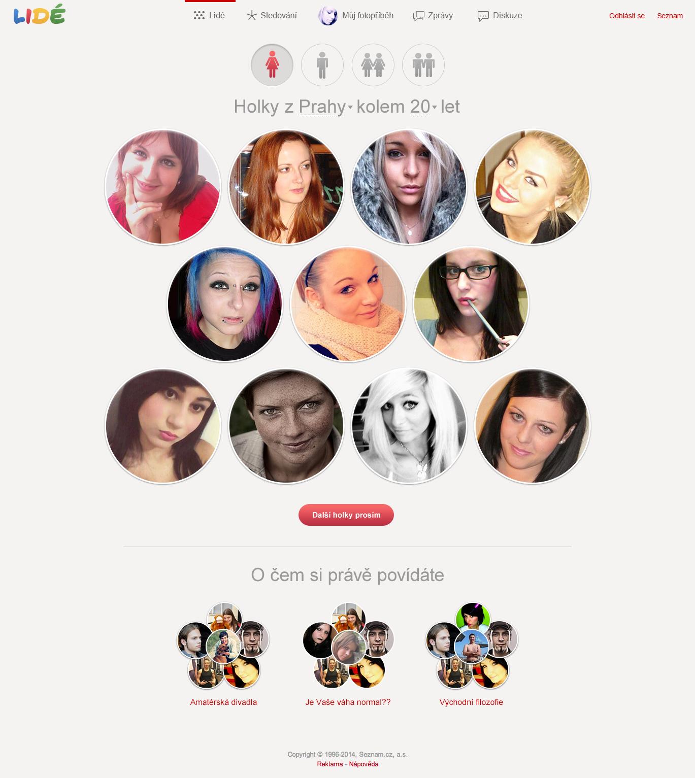 Seznamka tvůrce profilu webu