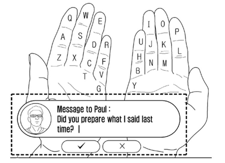 Klávesnice využívající rozšířenou realitu – nový patent od Samsungu