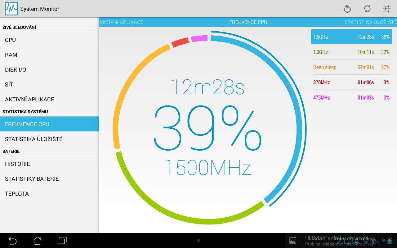 System Monitor – minimalistická aplikace na sledování systému [Android]