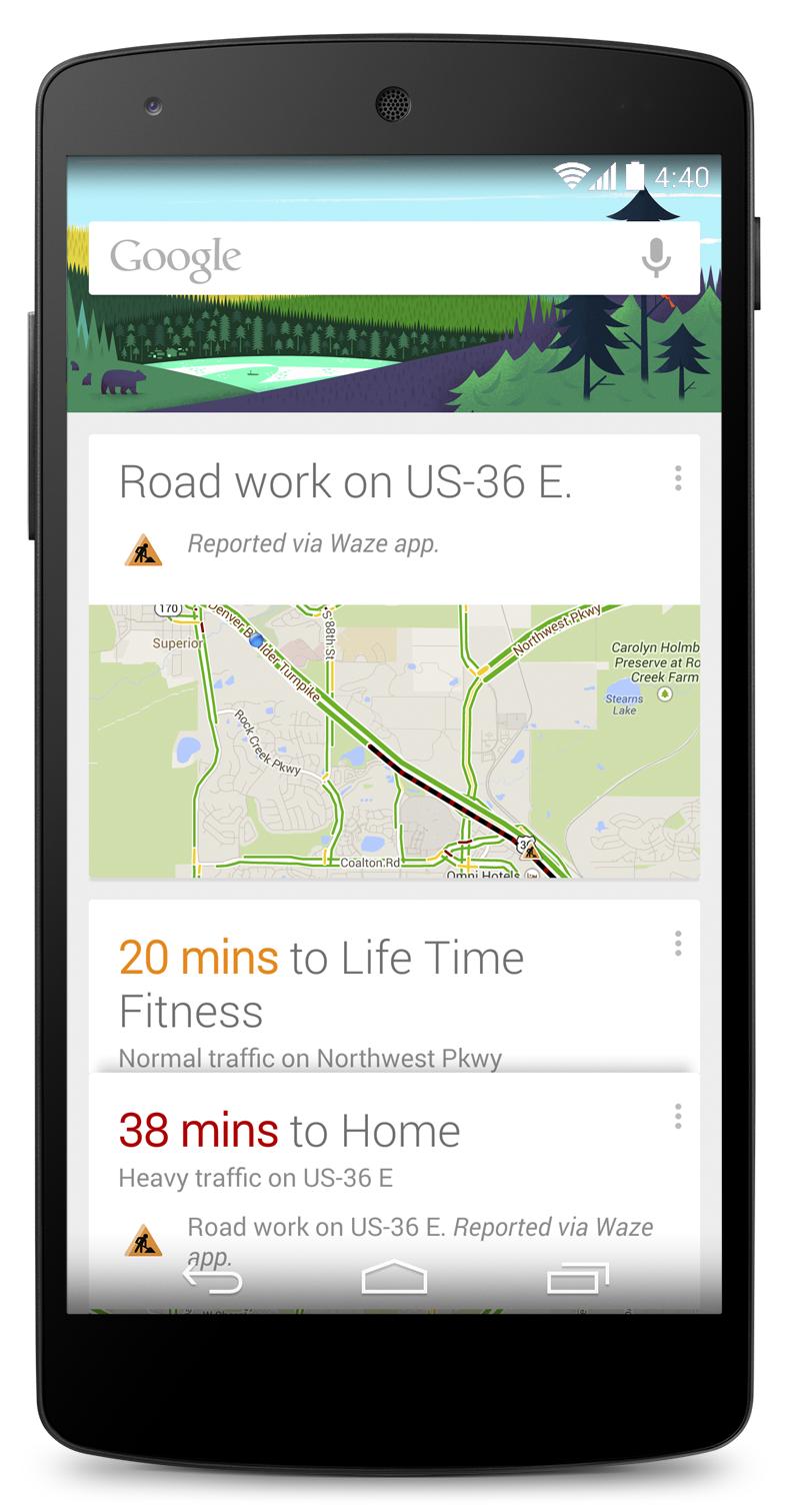 Google Now vás upozorní na dopravní nehodu