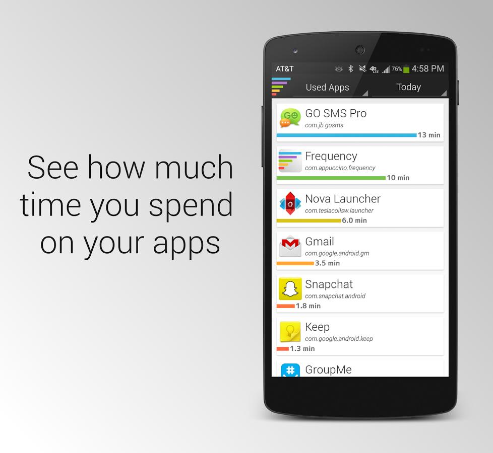 Frequency: Zjistěte, kolik času trávíte s aplikacemi [android]