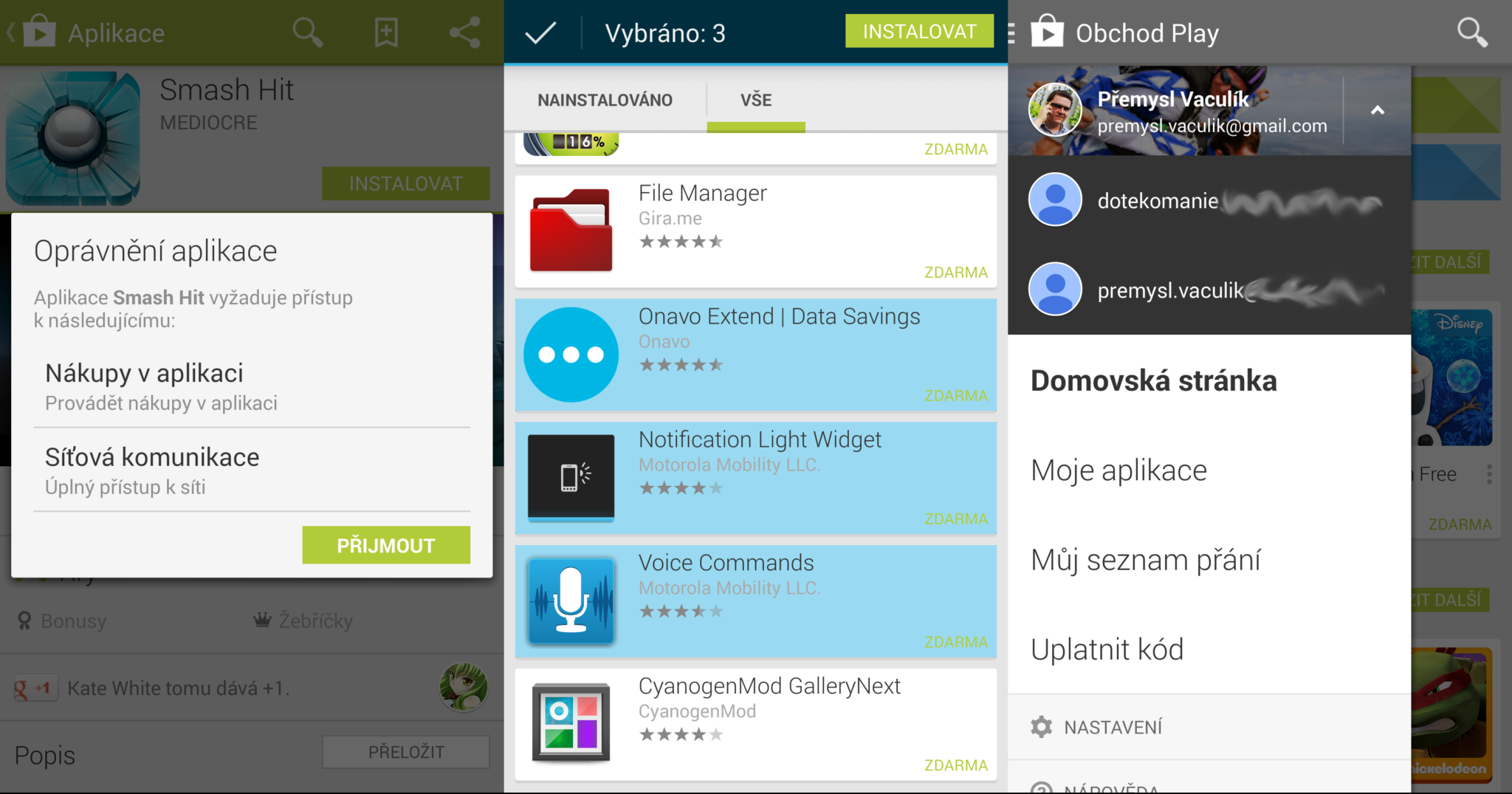 Novinky v Obchodu Play pro Android [apk]