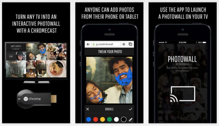 Google představil Photowall pro sdílení galerií na Chromecastu
