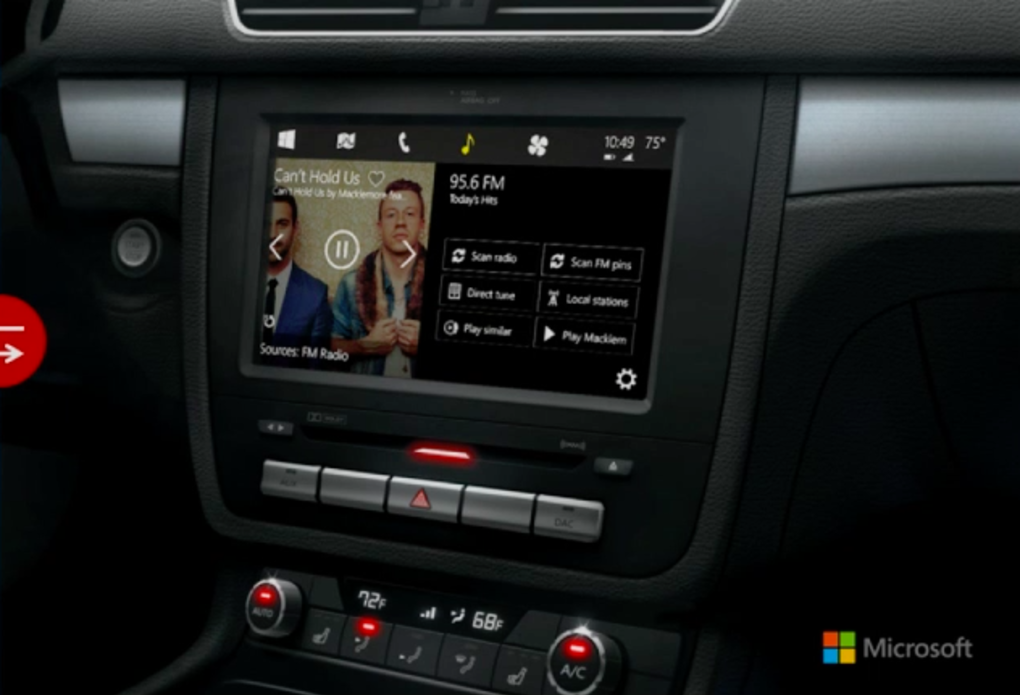 "Microsoft ukázal ""Windows in the car"" – systém pro automobily"