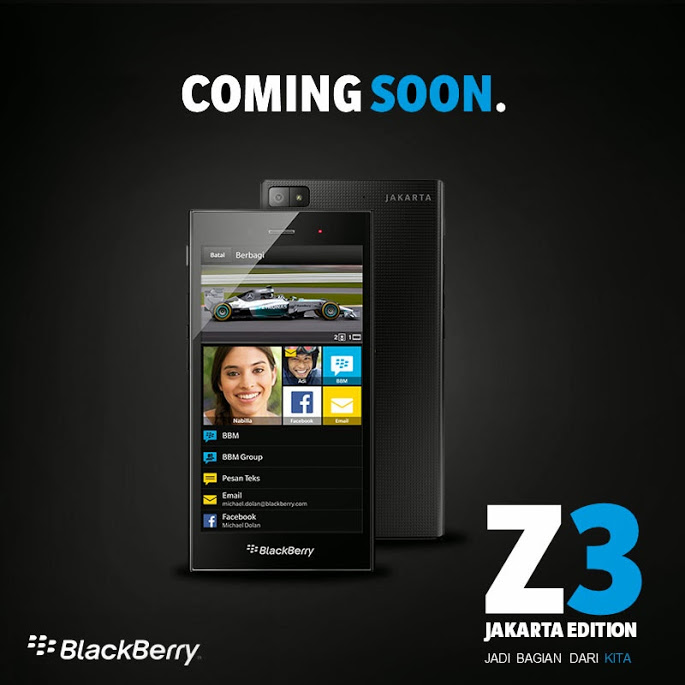 BlackBerry Z3 Jakarta Edition dorazil do předprodeje